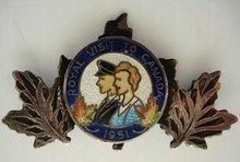 STERLING BROOCH-ROYAL VISIT TO CANADA