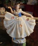 Lovely Antique DRESDEN FIGURINE