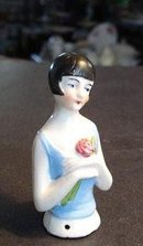 PIN CUSHION Half Doll     Lady with Rose