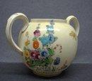 Crown Staffordshire Bowl - HOLLYHOCK