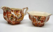 ROYAL WINTON CHINTZ CREAM&SUGAR-Paisley