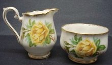ROYAL ALBERT CREAM&SUGAR TEA ROSE