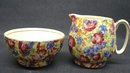 ROYAL WINTON CHINTZ CREAM&SUGAR ROYALTY