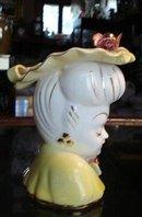 LOVELY  ANTIQUE HEAD VASE-GLAMOUR GIRL