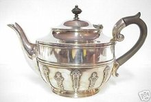 Silver TEAPOT  Deco Style Old English