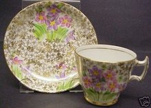 DECO PHOENIX DEMI TEA CUP AND SAUCER - HAND