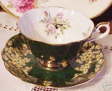 ROYAL ALBERT CUP and SAUCER - GOLD GILT