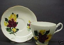 CONSORT FINE BONE CHINA TEA CUP AND SAUCER