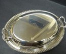 SILVER OVAL SERVING DISH&LID*MONO*A*