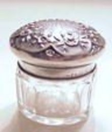Victorian Sterling & Crystal RING BOX