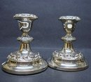 SILVER PLATED  - CANDLESTICKS