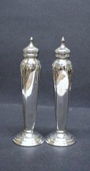 SILVER PLATED PAIR - SALT & PEPPER