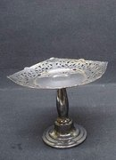 Antique Silver - Calling Card Pedestal Stand