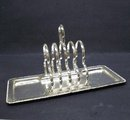 LOVELY SILVER PLATE TOAST STAND