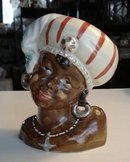 ORIGINAL UNIQUE BLACK GIRL - HEAD VASE