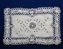 LOVELY VICTORIAN WIDE CLUNY LACE Tray Cloth