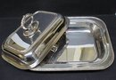 COVERED ENTREE SILVER SERVING DISH