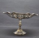 VICTORIAN  SILVERPLATED PEDESTAL COMPORT