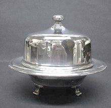 ROGERS FOOTED COVERED BUTTER DISH