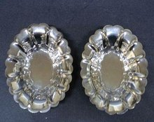 Pair of Lovely Silverplated Nut Dishes
