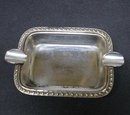 Antique  Silver Table Ashtray
