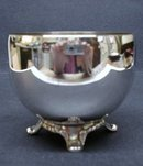 Elegant Silver Plate Tea Bag Footed Bowl