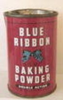 Spice Tin BLUE RIBBON Baking Powder