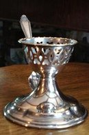 Antique Silver Plate EGG CUP & SPOON