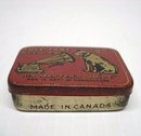 ANTIQUE GRAMOPHONE NEEDLE TIN BOX