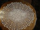 ANTIQUE FILET LACE LARGE *DOILY*
