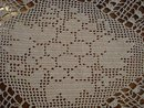 Lovely ANTIQUE FILET LACE LARGE *DOILY*