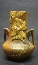 Antique Roseville VASE Honey-Brown 106-7