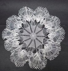 ANTIQUE RARE LACE CENTERPIECE LARGE DOILY