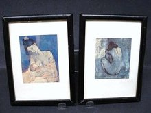 PAIR OF 2 SMALL PICASSO FRAMED PRINTS