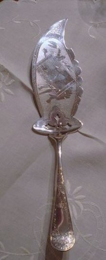 ART NOUVEAU*SILVER*SEA FOOD*SERVER