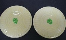 PRETTY*PAIR of ANTIQUE POTTERY TRIVETS