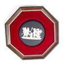Rare Vintage Basalt Ware Framed Plaque Jasperware Wedgwood Pottery England