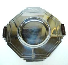 ART DECO CHROME SERVING TRAY-DISH