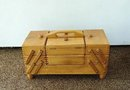 UNUSUAL - WOOD SEWING BASKET