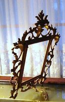 ORIGINAL CAST IRON ART NOUVEAU PHOTO FRAME