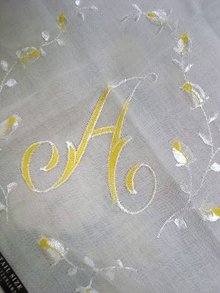 SILK EMBROIDERY HANKY MONOGRAM