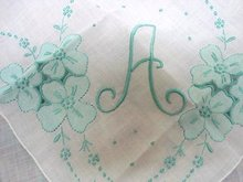 EMBROIDERY/PATCHWORK HANKY MONOGRAM
