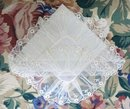 FANTASTIC TAMBOUR LACE WEDDING HANKY