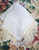 Fine Handmade Lace Border Wedding Hanky