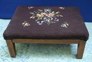 SHABBY CHIC NEEDLWORK FOOT STOOL