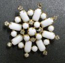Fantastic  Vintage /Milk Glass BROOCH