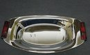 ART DECO CHROME/BAKELITE SERVING DISH