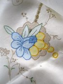 lovely MADEIRA TABLECLOTH - EMBROIDERY +