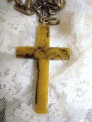 BAKELITE LARGE CROSS on Chain by VOGUE