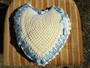 HEART SHAPE LACE /RIBBONS  PILLOW